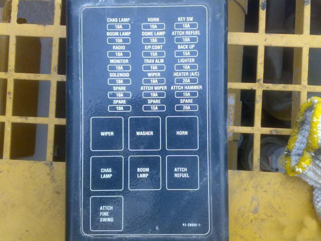 卡特320挖掘机保险丝英文翻译-[重庆cat320挖机维修厂