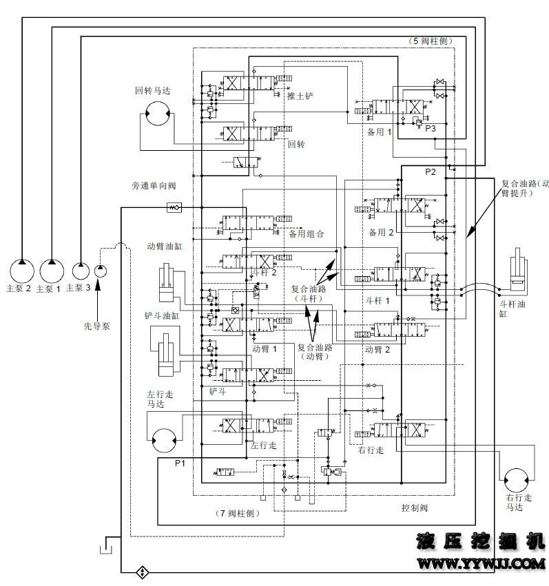 攀枝花维修点分享日立zaxis60液压挖掘机主油路原理