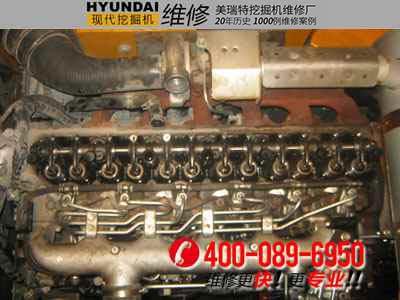 【图解】现代210-5三菱发动机柴油泵正时装配
