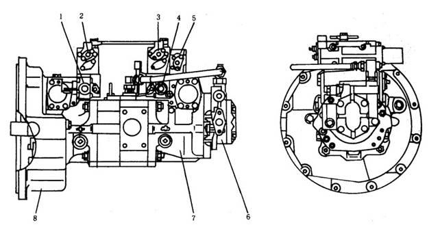 小松pc400-5型液压泵系统工作原理