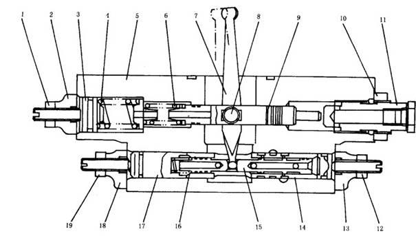 小松pc200-5型液压泵系统工作原理