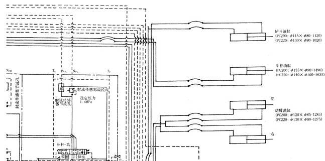 图2 -2(a) PC200 -5型液压控制机液压原理缩略图 美瑞特挖掘机维修厂: 美瑞特挖掘机维修厂成立于2000年,经过十年的发展,我厂仅资深的的挖掘机维修、挖掘机修理技师就多达30多人。厂房占地面积多达1000多平方米,业务范围遍及重庆,云南,广西,四川湖南,湖北,甘肃,内蒙,西藏,新疆等大西南地区。我们先后维修了十台小松挖掘机。受到维修过的小松挖掘机老板的广泛认可。 我厂首创了挖掘机零部件二次再造技术,对于高度受损的重要零部件进行再造修复,为您节约维修成本。 我们的24小时热线:13635478
