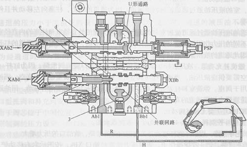 现代r210lc-7型挖掘机动臂控制阀图片图片
